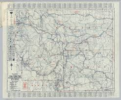Montana Highway Map Auto Trails Map Idaho Montana Wyoming David Rumsey Historical