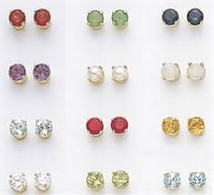 birthstone jewelry 14kt birthstone earrings 4mm