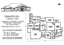 Four Bedroom Three Bath House Plans Single Story Small House Designcomfortable Bedroom Bath House