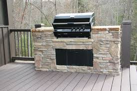 exterior nice looking outdoor stone barbecue kitchen design idea