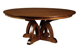 Round Decorative Table Amish Furniture Hand Crafted Solid Wood Pedestal Tables Amish