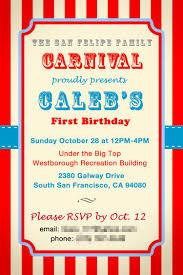template free children u0027s carnival birthday invitations with