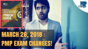 pmp exam changes on mar 26 2018 youtube
