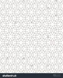 Contemporary Wallpaper Seamless Line Pattern Arabian Style Contemporary Stock Vector