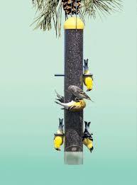 pet upside down wild finch tube bird feeder
