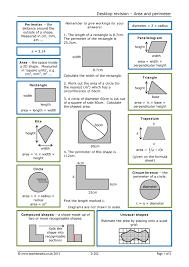 desktop revision u2013 area and perimeter geometry and measure