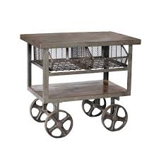 Industrial Kitchen Cart by Antique Rustic Furniture Industrial Iron Trolley Cart Antique