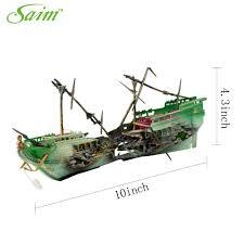 fish tank plastic broken boat ship shipwreck aerating aquarium