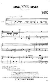 sing sing sing with a swing louis prima sing sing sing sab by louis prima arr j w pepper sheet