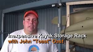 Free Standing Kayak Storage Rack Plans by Inexpensive Diy 2x4 Kayak Storage Rack Episode 182 Youtube