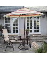 boom holiday sales on striped patio umbrellas
