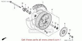 honda sfx honda sfx50 1995 s spain front wheel schematic partsfiche