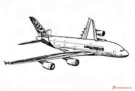 airplane coloring pages free printable b u0026w pictures