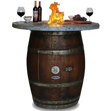 Wine Barrel Fire Pit Table by Grand 42 Inch Wine Barrel Fire Pit Table By Vin De Flame Bar