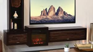woodwaves floating tv stand fireplace console youtube
