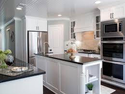 Gray Kitchen Galley Normabudden Com Kitchen White Galley Kitchen With Black Appliances Subway Tile