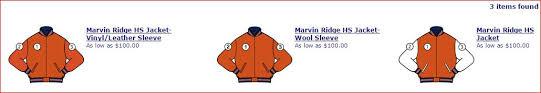 varsity letter jackets marvin ridge mavericks athletic booster club