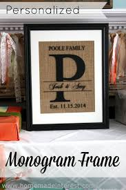 personalized monogram frame monogram picture frames silhouettes