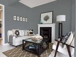 impressive gray living room walls with black furniture sherwin