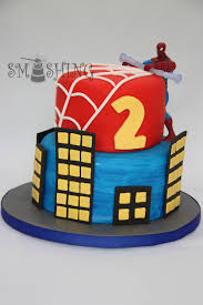 smashing cake designs spiderman