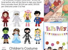 oct 29 children u0027s halloween costume party with book signing by a