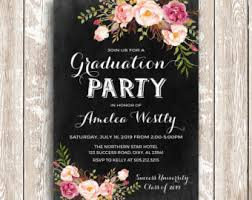 grad invitations grad invitation etsy