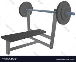 cartoon bench press royalty free vector image vectorstock