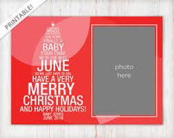typographic red christmas tree pregnancy announcement