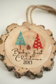 10 diy personalized baby u0027s first christmas ornaments