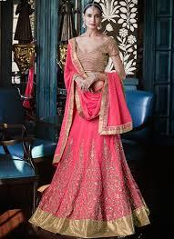 engagement lengha outstanding hot pink georgette lehenga choli