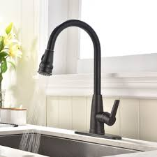 oil rubbed bronze kitchen sink faucet with commercial high arch