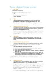 25 Professional Agreement Format Examples 50 Free Independent Contractor Agreement Forms Templates