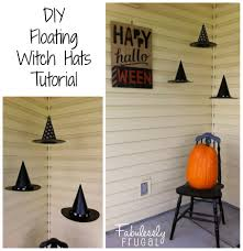 diy floating witch hats tutorial
