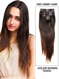 20 inch hair extensions 20 inch ombre auburn medium brown and brown clip in