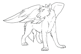 Wolf Color Page Winged Wolf Coloring Pages Anime Wolf Pack Wolf Pack Coloring Pages