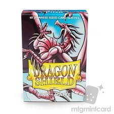 dragon shield 60 deck protector sleeves japanese size matte
