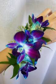 blue orchid corsage corsage wrist blue zoeken jdd corsage and