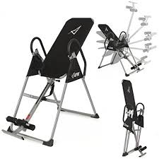 inversion table exercises for back akonza inversion table deluxe fitness chiropractic back pain relief