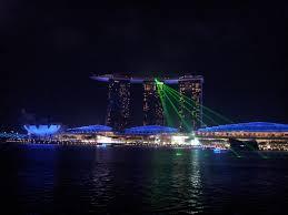 Bay Bridge Light Show File Marina Bay Sands Wonder Full Show Seen From Merlion Point Jpg