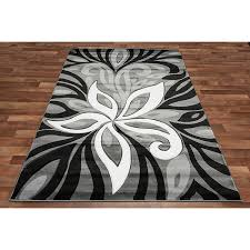 Modern Black Rug Decorate With Black And White Rugs Editeestrela Design