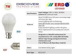 incandescent light bulb specifications erd led lighting