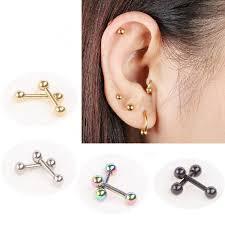 earring helix 2018 ear nail bone barbell earring piercing helix ear stud tragus