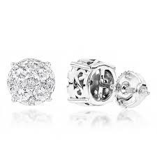 diamond earrings designs designer studs large diamond earrings 1 75ct 14k gold