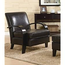 Brown Leather Accent Chair Roundhill Furniture Wonda Bonded Leather Accent Chair