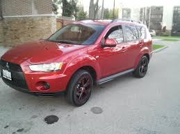 red mitsubishi outlander the red baron 2011 mitsubishi outlanderes specs photos