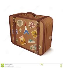 Iowa travel stickers images Luggage leather suitcase with travel sticker stock vector image jpg