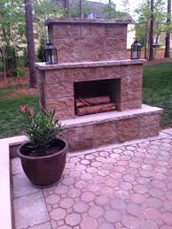 Outdoor Patio Fireplaces Life In The Barbie Dream House Diy Paver Patio And Outdoor