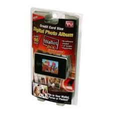 wallet size photo album as seen on tv wallet pix digital frame photo album credit card