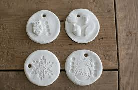 hello wonderful diy stamped clay ornaments