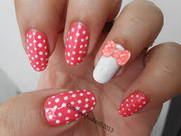 cute nails neon nails3 3d polka dot bow nails